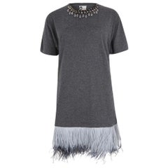 Lanvin Feather and Crystal Embellished Tunic