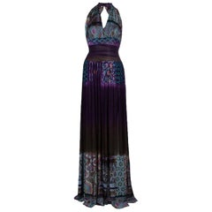 Etro Halter Printed Maxi Dress