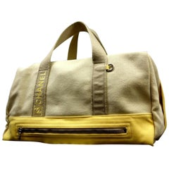 1ea58685ffc9 Chanel Bicolor Boston Duffle 225371 Beige X Yellow Canvas Weekend/Travel Bag