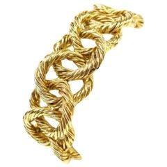 Chanel Gold Cc Chain Rope Cuff Bangle 226005 Bracelet