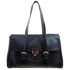 Louis Vuitton Black Epi Segur MM Ledertasche