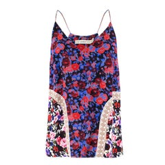 Mary Katrantzou Silk Floral Print Cami Top US 6