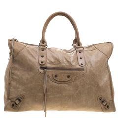 Balenciaga Oatmeal Leather XL RH City Tote
