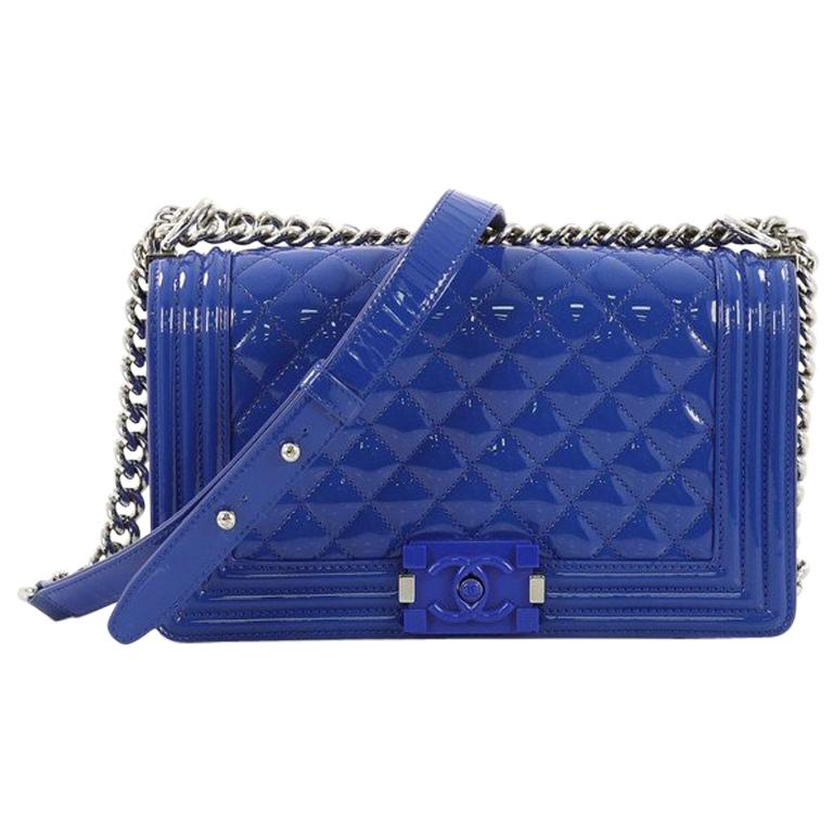 0d51d5d7ec7e Chanel Boy Flap Bag Quilted Plexiglass Patent Old Medium For Sale at 1stdibs
