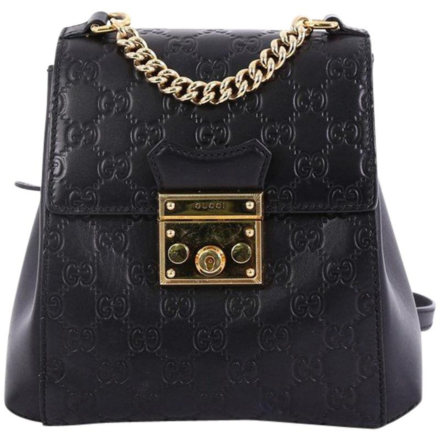0ff59631b Gucci Padlock Backpack Guccissima Leather Mini at 1stdibs