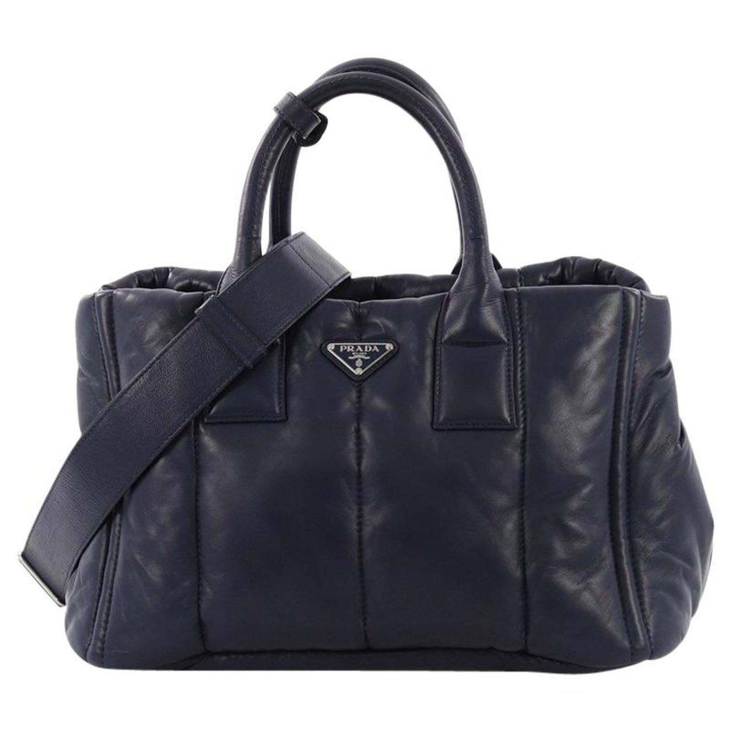 d50cdf0d1c7b Prada Bomber Convertible Tote Nappa Leather Medium For Sale at 1stdibs