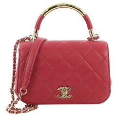 Chanel Carry Chic Flap Bag Quilted Lambskin Mini