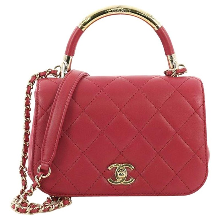 4c9914f0d0e5fa Chanel Carry Chic Flap Bag Quilted Lambskin Mini For Sale at 1stdibs