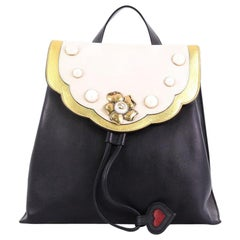 Gucci Pearly Peony Backpack Leather Medium