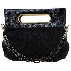 Louis Vuitton Schwarze Monogram Wildleder Motard Afterdark Tasche, Limitierte Auflage