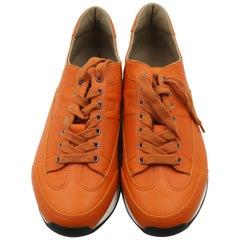 HERMES Mens Goal Sneaker 41.5 Orange