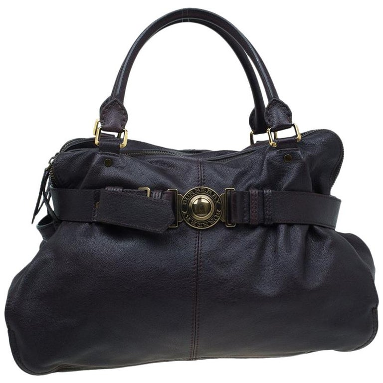 3746df175af5 Burberry Dark Brown Buffalo Leather Lambeth Tote For Sale at 1stdibs