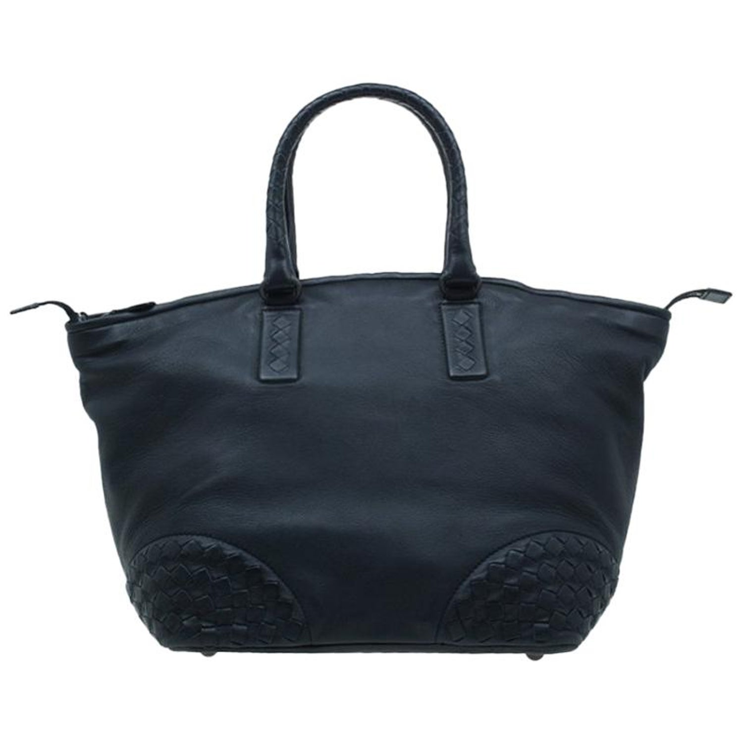 Bottega Veneta Black Nappa Intrecciato Leather Small Tote Bag For Sale at  1stdibs 4e04340171ac0