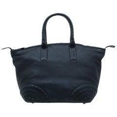 Bottega Veneta Black Nappa Intrecciato Leather Small Tote Bag
