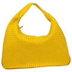 Bottega Veneta Yellow Intrecciato Leder Maxi Veneta Hobo Bag