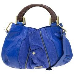 Jimmy Choo Purple Leather and Suede Maia Hobo