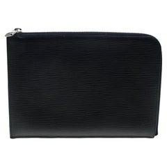 Louis Vuitton Black Epi Leather Documents Portfolio Pochette