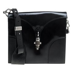 Proenza Schouler Black Leather Record Shoulder Bag