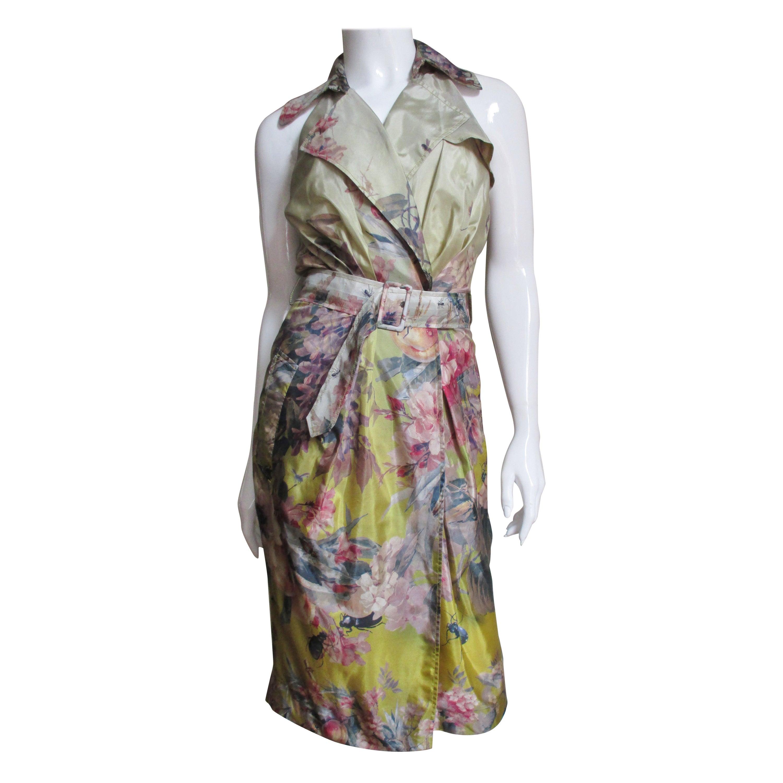 Jean Paul Gaultier Silk Flower Wrap Dress