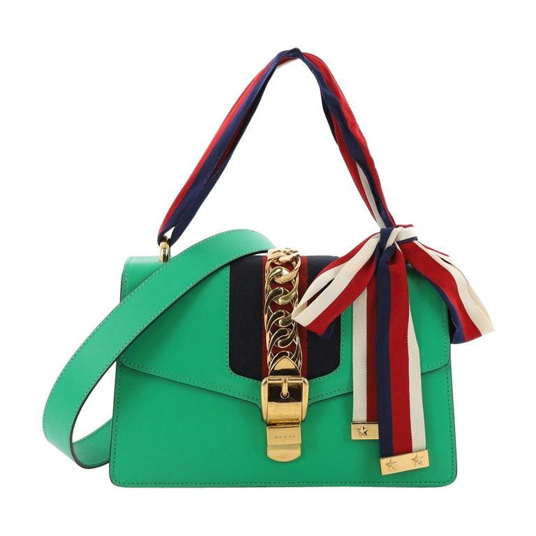 4ff6c6a99 Gucci Sylvie Shoulder Bag Leather Small, For Sale at 1stdibs