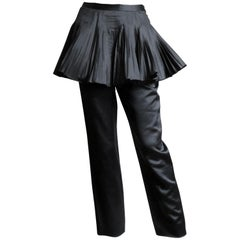 1990s Valentino Boutique Silk Pants with Peplum