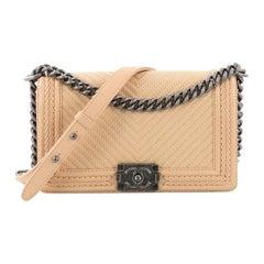 Chanel Braided Boy Flap Bag Chevron Lambskin Old Medium