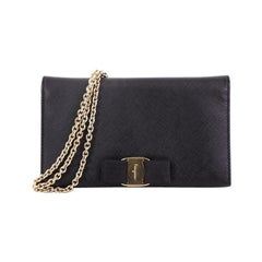 Salvatore Ferragamo Miss Vara Chain Wallet Saffiano Leather