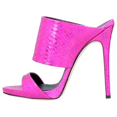 Giuseppe Zanotti NEW Pink Slides Mules Evening High Heels Sandals in Box
