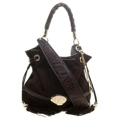 Lancel Brown Suede and Leather Le Brigitte Bardot Hobo