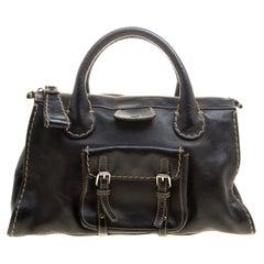 Chloe Black Leather Edith Satchel