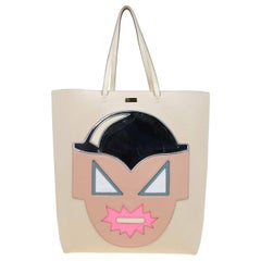 Stella McCartney Beige Leather Superhero Structured Tote
