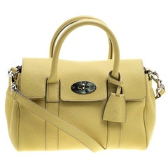 0bb75a46c8 Mulberry Yellow Grain Leather Small Bayswater Satchel. Mulberry Vintage Crocodile  Embossed Crossbody Bag