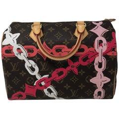 Louis Vuitton Limited Edition Chain Flower Speedy 30