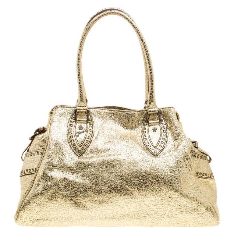 e3f1b085949 Fendi Gold Leather Du Jour Satchel For Sale. Handbags ...