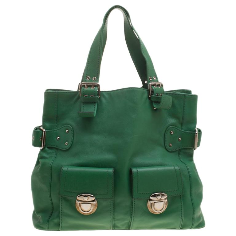 592bee739249 Marc Jacobs Green Leather Stella Tote For Sale at 1stdibs