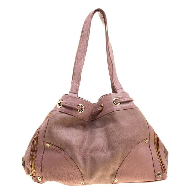 c0011efd45 Mulberry Pink Leather Drawstring Tote For Sale at 1stdibs
