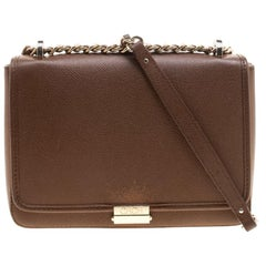 Carolina Herrera Brown Leather Shoulder Bag