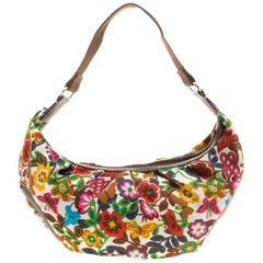 Lancel Multicolor Printed Fabric Shoulder Bag