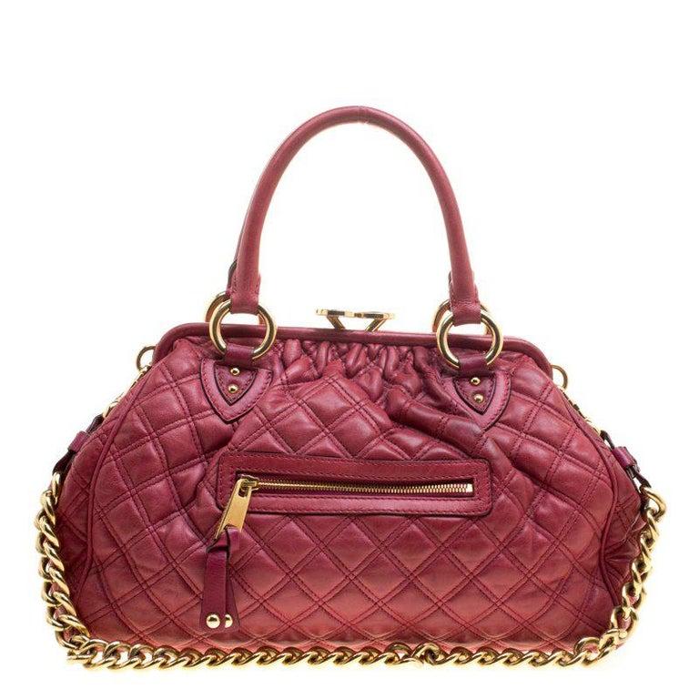 63c0bb1256 Marc Jacobs Pink Quilted Leather Stam Shoulder Bag For Sale at 1stdibs