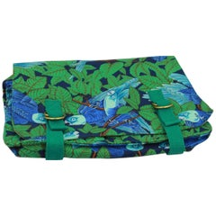 Hermes Vintage Parrots Clutch / Pouch. Really good condition