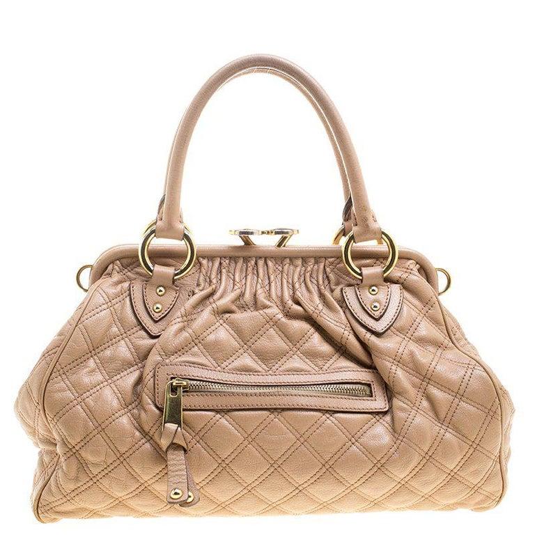 2616513cde95 Marc Jacobs Beige Quilted Leather Stam Shoulder Bag For Sale at 1stdibs