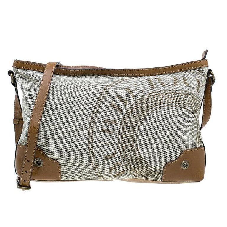 1b8999504e5e Burberry Brown Canvas Crossbody Bag For Sale at 1stdibs