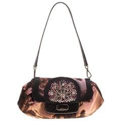 Prada Multicolor Nylon Crystal Embellished Shoulder Bag