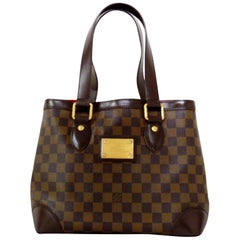 Louis Vuitton Hampstead Damier Ebene 227063 Brown Coated Canvas Shoulder Bag