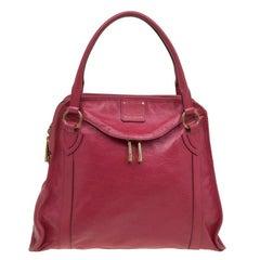 Marc Jacobs Red Leather Classic Wellington Satchel