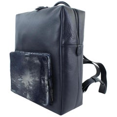 MCM Runway L20mct916 Black Leather Backpack