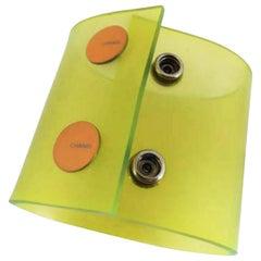 Chanel, Neongrün, transluzent, Schnappverschluss, 226629 Armband
