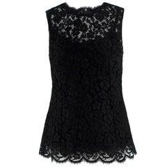 Dolce & Gabbana Black Lace Top US 4