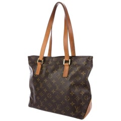 Louis Vuitton Cabas Monogram Piano 226910 Brown Coated Canvas Tote