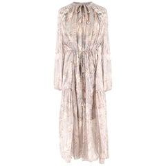 Zimmermann Stranded Glarland crinkle silk-chiffon dress US 4